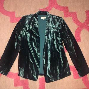 Green velvet blazer size S